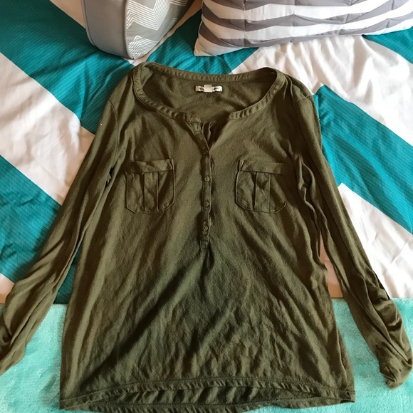 American Eagle Outfitters Tops - Green 3/4 blouse